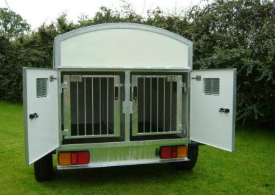2 Berth Dog Trailer with Fixed Roof