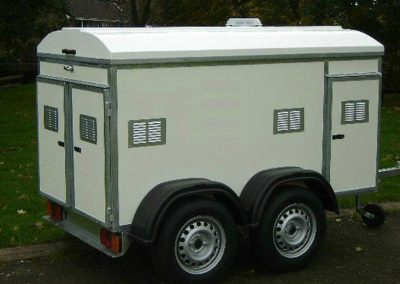 4 Door two compartment trailer with extra height to carry 4 large dogs