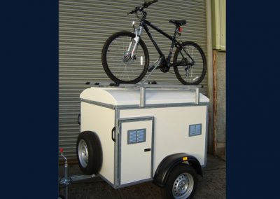 3 Berth bespoke trailer with extra height and 4 bike rack